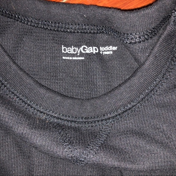 New Gap Kids Boys Red Waffle Knit Crew Neck Long Sleeve Cotton T-shirt Tee 8